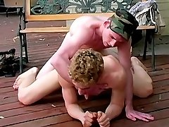 Fit young twink Beau loves to get a hard dick in his hot little ass, and Tyler has what he needs